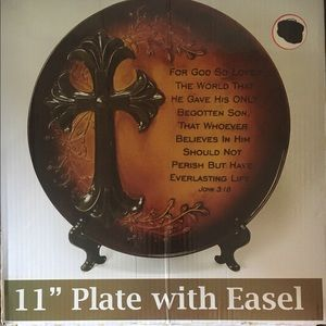 """Other - NEW - 11"""" Plate with Easel"""